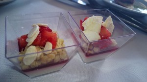 Strawberries from D Bar Desserts and chef Lisa Bailey (pictured below with husband and D Bar co-owner Keegan Gerhard. (Wendy Aiello photos)