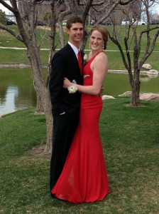 Mariel Boutique in Cherry Creek North provided Missy Franklin's red prom dress. (Photo courtesy of Mariel)