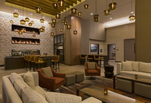 The fireside bar and lobby is just one the makeover features to the remodeled Grand Hyatt in downtown Denver. (Photos courtesy of Grand Hyatt hotel)