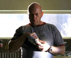 "Actor Dean Morris plays the character Hank Schrader, who was munching on Boulder Canyon chip on AMC's ""Breaking Bad."" (AMC network photo)"