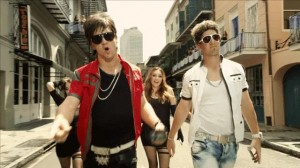 Peyton, left, and Eli Manning performed an outlandish 'rap video' to promote DirecTV's Sunday Ticket. (Photo by DirecTV)