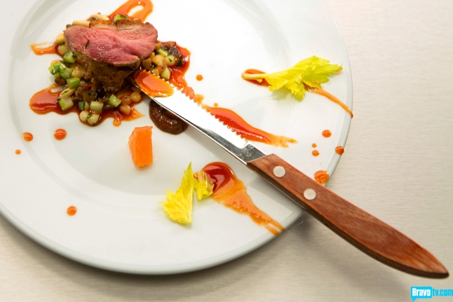 ... citurs duck sausage with fregola and celery salad. (Bravo TV photo