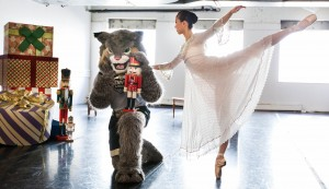 University of Colorado Denver mascot Milo helps promote the Colorado Ballet's annual holiday performance, 'The Nutcracker.' (Photos courtesy of CU Denver  Office of Communications