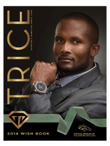 Champ Bailey graces the cover of the 2014 Trice Jewelers Wishbook. Several of Denver's most famous Denver women grace the catalog wearing some Trice's gems and diamonds. (Trice Jewelers photos)