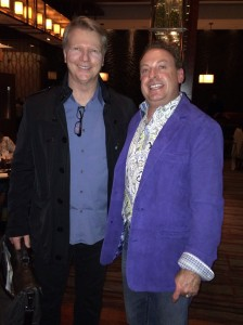 Ken Mendelsberg, right, posed with CBS Sports analyst Phil Simms at the Fouth Seasons Hotel Denver on Sunday. (Ken Mendelsberg photo)