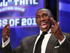 Former Broncos tight end and current CBS Sports pregame analyst SHannon SHarpe is returning to Denver to speak at a March 13 event for the Junior League. (CBS Sports photo)