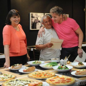 Co-owners Paulette and Pete thank chef Gordon Ramsay during an episode of the Fox reality series, 'Kitchen Nightmares.' (Fox network photo)