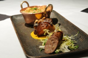 The Nickel will sports an old-time rotisserie and its menu will include a dish of duck, pork belly and an elk sausage casselouet.