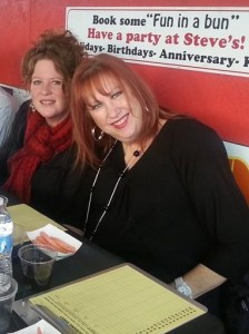 Lori Midson, left, with On The Town columnist Penny Parker. (Facebook photo)