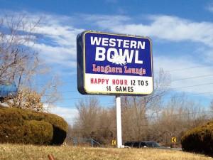 WesternBowlArvadaSign