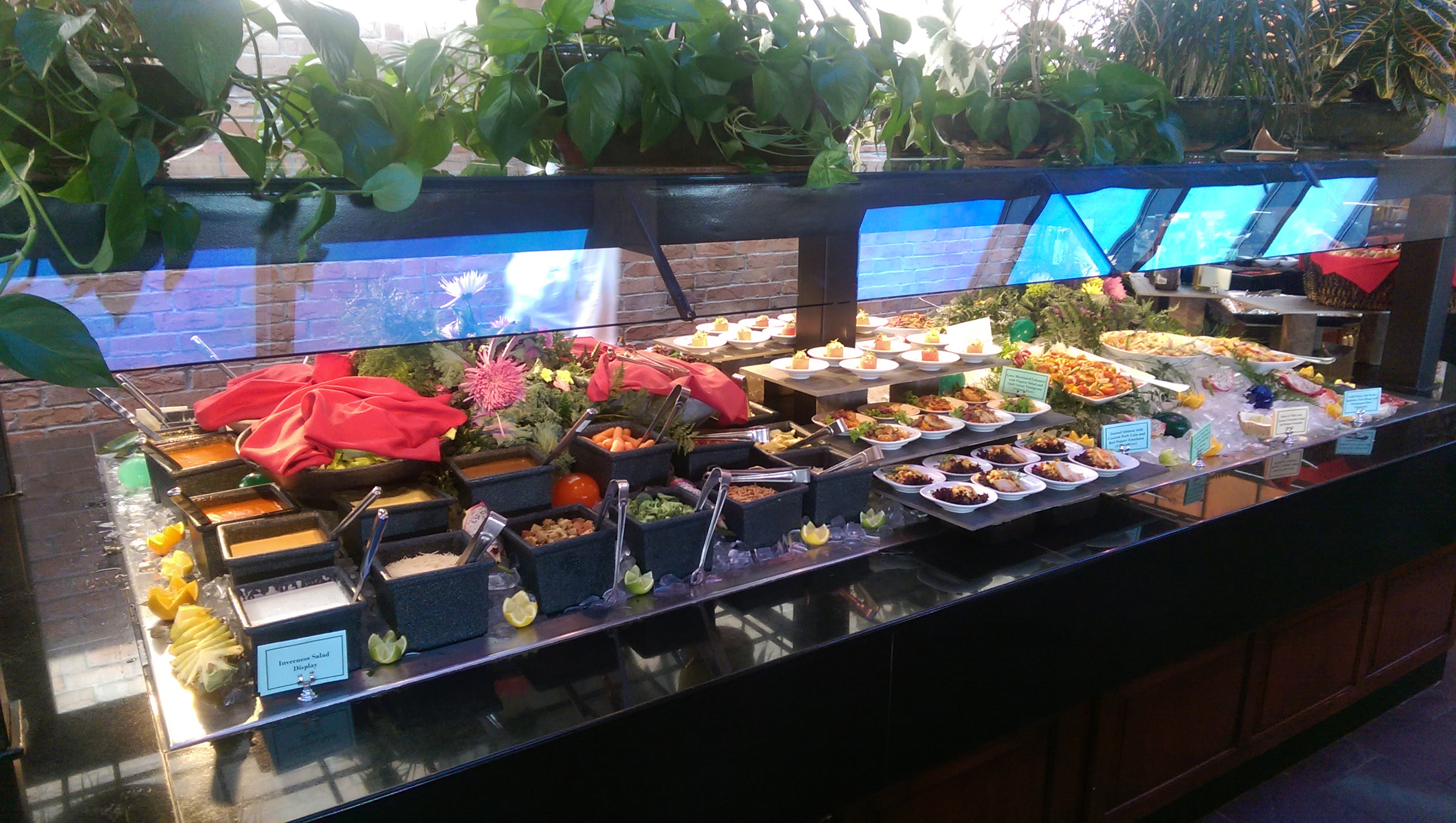 The Inverness offers a bountiful Sunday brunch buffet ...